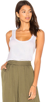 Chaser Deep Scoop Rib Tank in White