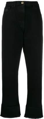GCDS high-waist cropped jeans
