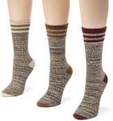Muk Luks 3-Pack Striped Marl Boot Socks