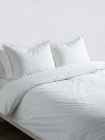 Melange Home Crochet Trim Cotton Percale Duvet Set