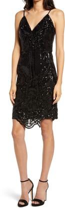 Chi Chi London Sequin Body-Con Dress