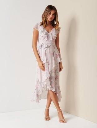 Ever New Stephanie Ruffle Midi Dress