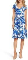 Maggy London Women's Palm Spray Print Wrap Dress