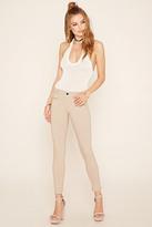 Forever 21 FOREVER 21+ Zipper-Front Skinny Jeans