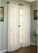 Commonwealth Home Fashions Hydrangea 63-Inch Rod Pocket Window Curtain Panel