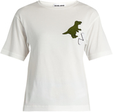 Muveil Dinosaur-appliqué cotton-jersey T-shirt