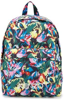 Kenzo x Vans floral logo print backpack