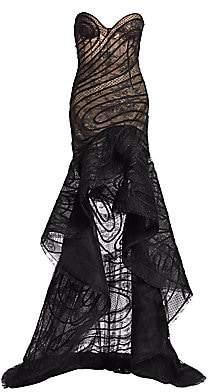 Oscar de la Renta Women's High-Low Strapless Sweetheart Gown