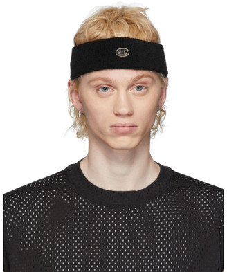 Rick Owens Black Champion Edition Sponge Headband