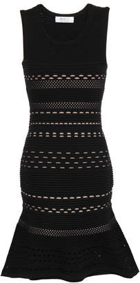 Bailey 44 Fluted Pointelle-knit Mini Dress