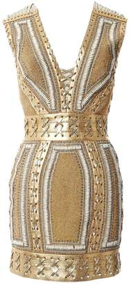 N. Non Signé / Unsigned Non Signe / Unsigned \N Gold Leather Dresses