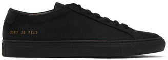 Common Projects SSENSE Exclusive Black Suede Achilles Sneakers