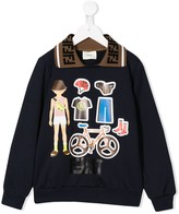 Fendi cycling print sweatshirt