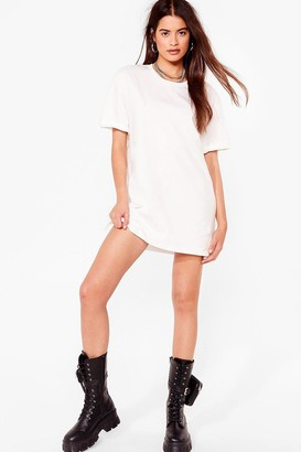 Nasty Gal Womens Tee for Yourself Mini Tee Dress - Off White