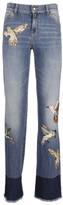 Valentino Bird Applique Jeans