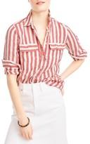 J.Crew Women's Wexel Stripe Linen Shirt