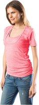 Bun Maternity Nursing Tee - Pink-Large (10/12)