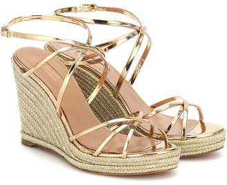Aquazzura Gin 85 wedge sandals