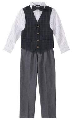 Nautica Little Boy's 4-Piece Spruce Vest Suit Set