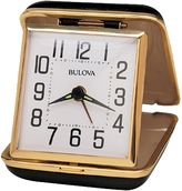 Bulova Reliable II Travel Clamshell Alarm Clock in Black