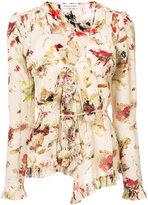 Tomas Maier V-neck floral blouse