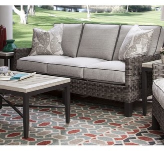 Braxton Culler Luciano Patio Sofa with Sunbrella Cushions Cushion Color: 6282-61