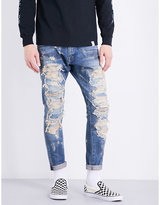 Magic Stick Destroyed loose-fit tapered jeans