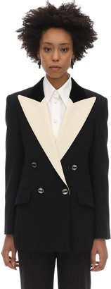 Gucci DOUBLE BREASTED WOOL & SILK CADY JACKET