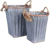 Household Essentials® 2-Piece Metal Basket Set in Rose Gold