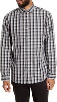 Calibrate Trim Fit Check Button-Up Shirt