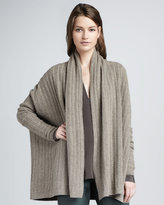 Vince Loose Cable-Knit Cardigan