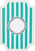 Scallop Framed Monogram Pinboard, Pool Stripes, Vertical