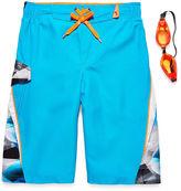 ZeroXposur Zero Xposur Boys Geometric Swim Trunks-Big Kid
