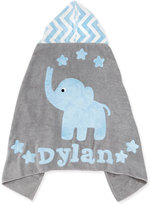 "Boogie Baby Personalized ""Big Foot"" Elephant Hooded Towel, Blue `"