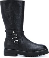 Moschino buckled boots - women - Leather - 38.5
