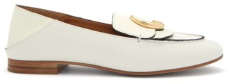 Chloé The C Collapsible-heel Leather Loafers - White