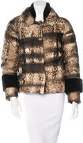 Prada Mink-Trimmed Down Coat