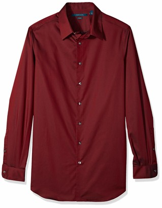 Perry Ellis Men's Big Non-Iron Travel Luxe Solid Shirt