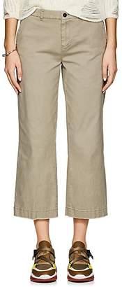 ATM Anthony Thomas Melillo Women's Cotton Crop Boyfriend Trousers - Green