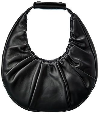 STAUD Soft Moon Leather Hobo Bag