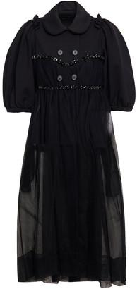 Simone Rocha Embellished Scuba And Tulle Coat