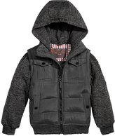 Ben Sherman Hooded Layered-Look Coat, Big Boys (8-20)