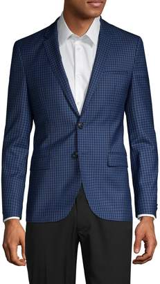 HUGO BOSS Gingham-Print Wool Sportcoat