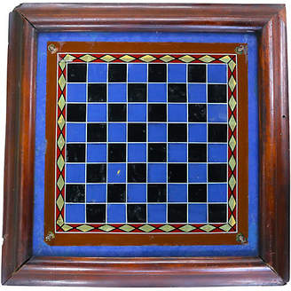 One Kings Lane Vintage Antique Reverse Painted Glass Game Board - Rose Victoria
