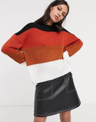 Only stripe long sleeve jumper-White