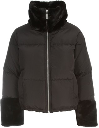 MICHAEL Michael Kors Faux Fur Trim Puffer Jacket