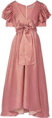 Silvia Tcherassi Striped Stretch-silk Maxi Dress