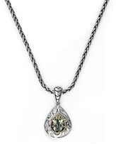 Effy Jewelry Effy 925 Sterling Silver & 18K Yellow Gold Green Amethyst Pendant, 2.75 TCW