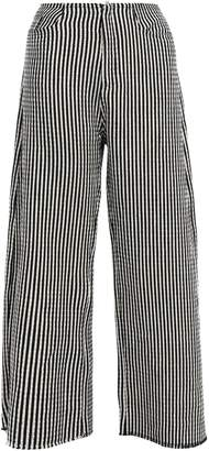 Marques Almeida Marques' Almeida Frayed Cotton-blend Wide-leg Pants