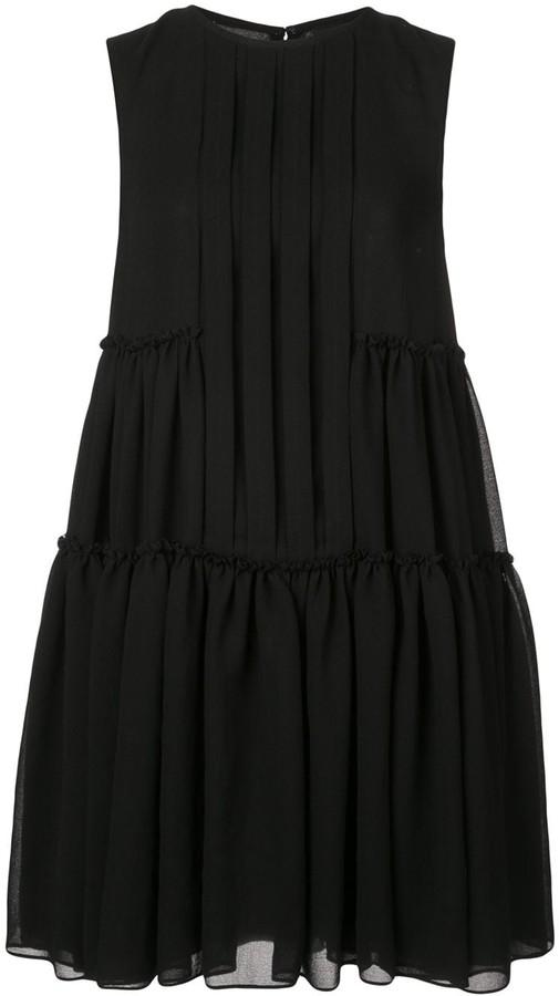 Vera Wang Pleated Shirt Dress